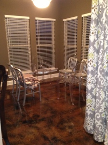 This was before my kitchen table arrived. Don't you just love my princess chairs??