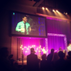 Josh (Ashley's husband) speaking at church!