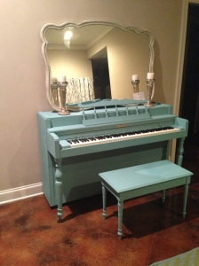 My piano. My love. She's showcased FIERCELY in my living room. Bring on the songwriting.